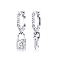 New Sterling Silver Designer Brand Dangel Earrings Luxury Lo...