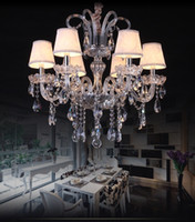 luxury Modern Chandelier lights K9 crystal LED Pendant Hangi...