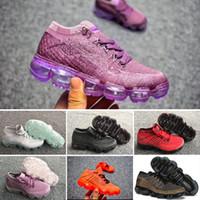 pretty nice 164e8 df7fb 2018 Air Knitting Vamp Portable Enfants Chaussures De Course Enfants 2018  Chaussures De Sport Garçons Filles