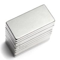 free shiping 6Pcs N35 20*10*2 Super Strong Neodymium Magnet Block Cuboid Rare Earth Magnets N35 20 x 10 x 2mm