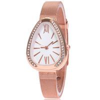 Fashion Diamond Vibring Dial Women's Watch Rose Gold Net med Roman Quartz Watch Handkläder Mode Tillbehör Armbandsur