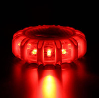 1pcs 12 * LED Safety Emergency alargamento Red Road alargamento Magnet piscando Aviso Night Lights Roadside Disc Beacon Para Automóvel Embarcação Truck