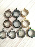 5 teile / los Medaillon Anhänger Großhandel 30 MM Magnetische Edelstahl Schwimmdock Medaillon Schwimmdock Charms Speicher Glas Medaillon 10 Stile SL014