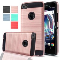 2 In 1 Brushed Case Hybrid Shockproof Hard PC Cover For MOTO...