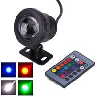 Yeni 10 W 12 V Uzaktan Kumanda Renk Değişimi RGB Sualtı LED Sel Işık CE / RoHS IP68 950lm Sualtı Havuz Işık Sualtı Işık