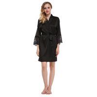 Fiklyc 브랜드의 새로운 도착 여성의 잠옷 입욕 가운 여성의 고품질 가짜 실크에 대한 패션 잠옷 M L XL XXL nighties