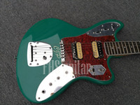 Green color sparkle JG style electric guitar, custom serial N...