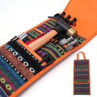 Utomhus Verktygsväska Hammer Tält Naglar Tillbehör Förvaringspåsar Camping Polyester Fiberförtjämningsväv Portable handskfack 8 5GTD1