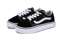Vans Old Skool low-top CLASSICS Nueva venganza x Storm Black Niños Casual Shoes Kendall Jenner Ian Connor bebé Niños Old Skool boys girls Casual Shoes