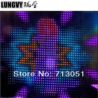 P18 4M*10M RGB Led Video Curtain Flexible Soft Stage Wedding Background Soft Flexible Curtain Show Decoration Led Display