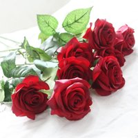 10pcs  Lot Latex Rose Artificial Flowers Real Touch Rose Flo...