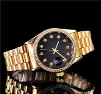 38mm diamond automatic date calendar luxury fashion Gold and...