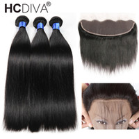 8A Mink Brazilian Straight Hair 13x4 Lace Frontal Closure wi...
