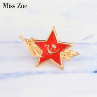 Miss Zoe URSS symbool email pin pin Koude Oorlog Sovjet CCCP Rode Ster Sikkel hamer Broche regalo icoon Badge Knop Revers pin cap regalo
