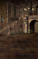 Retro Weinlese-Schloss-Innenfotografie-Hintergrund druckte Blumenvorhang-Fenster-Treppenlaternen-Foto-Studio-Stand-Hintergrund