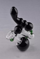 Cheap Sale Stock Black Glass Pipe Glass Bubbler Smoking Pipe...