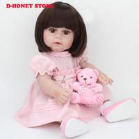 45 cm Rebirth Baby Doll Babies Silicone Reborn Baby Dolls Para Niñas Regalo muñeca de baño envío gratis