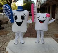 new High quality teeth and toothbrush Mascot Costumes adult ...