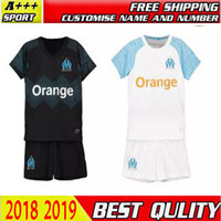 18 19 Olympique de Marseille KIDS KIT SOCCER jersey 2018 19 ...