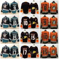 d58fad86a New Black Teal Anaheim Ducks 10 Corey Perry 15 Ryan Getzlaf Jerseys 17  Kesler 8 Teemu Selanne 9 Paul Kariya Hockey Men Stitched