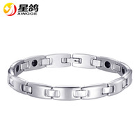 Silver Color Health Energy Magnetic Bracelet Men Pulseras Ho...
