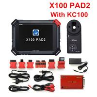 Original XTool X100 Pad2 Pro Auto Programador Key com KC100 para VW 4th 5th Pro Pad 2 EPS EPS OBD2 Odômetro MultiDiag-Língues