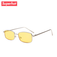 Superhot Eyewear 2018 New Small Rectangle Metal Sunglasses F...