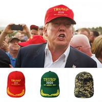 Casquette de baseball Trump 2020 garder l'Amérique grand chapeau Donald Trump Cap républicain ajuster Président Hat Trump Hat