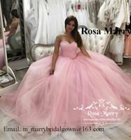 Rose Rose Mascarade Sweet 16 Quinceanera Robes 2020 Robe de billes Corsette Perlée Perlée Perlé Tulle arabe Vestidios de 15 Anos Pageant Robes de bal