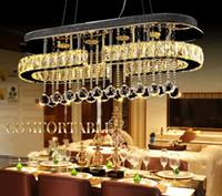 Yeni İskandinav Modern Krom Sarkıt LED Hall Kristal Sarkık Işıkları Mutfak Yemeği IÇIN LED Lustres / oturma odası LLFA