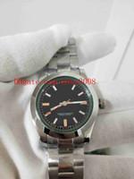 Moda alta qualidade relógios de pulso 36mm 116400gv relâmpago preto segunda mão Ásia 2813 movimento mecânico automático relógios de relógios de relógios