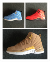 Discount new 12 XII wheat gold blue red men basketball shoes...