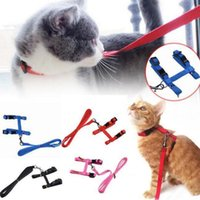 5 colores del arnés del animal doméstico collar de la correa del perro correa del gato y perrito arnés de tracción ajustable EEA330 120PCS