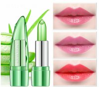 Makeup Aloe Gel Lipstick Natural Moisturizing Temperature Ch...