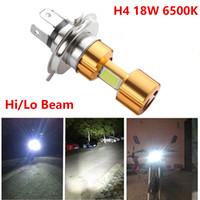 H4 18 W LED 3 COB DC 12 V Branco Da Motocicleta Farol Bulbo 2000LM 6500 K Hi / Lo Feixe de Alta Potência Super Brilhante luz da lâmpada