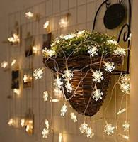 10 m LED kar tanesi dize yıldızlarla dolu odası dekorasyon ışıkları Noel neon küçük ışıkları fiş