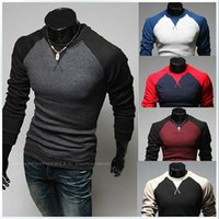 Mens Designer T Shirts Sports Slim Fit Top Patchwork Fashion...