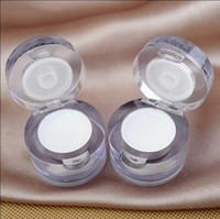2018 العلامة التجارية الجديدة 2 في 1 عين المكياج الوجه أضئ تمييز يلمع وميض مسحوق الصباغ الأبيض لون واحد لوحة ظلال العيون