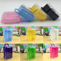 Прозрачный путешествия камера дизайн пластиковые конфеты коробка мини чемодан коробка свадьба душ ребенка шоколадные коробки рождественские подарки бесплатная DHL WX9-946