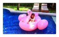 Inflatable Flamingo Pool Float Toys 190cm Kids Swimming Ring...