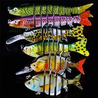 실물 같은 Mutil 관절 된 물고기베이스 미끼 3D 눈 6size 주조 레이저 하드 루어 Swinging 수영 크랭크 베이트