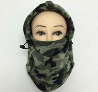 Nova Camo Quente Fleece Face Máscaras Inverno Motocicleta Térmica Balaclava Neck Máscaras Aquecedor de Ciclismo Ciclismo Esportes Tampão Windproof Ski Face Protetor