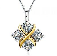 Fantaisie Bijoux T-Marque 0.4Ct Diamants Synthétiques Pendentif En Argent Sterling 925 Pendentif En Argent Sterling Pendentif Collier Or Blanc Couleur