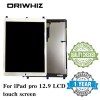 Chegada nova preto branco para ipad pro 12.9 tablet screen display lcd painel de toque digitador assembléia sem homebutton e cola