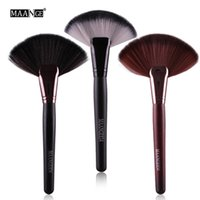 MAANGE Professionale 1pc Soft Makeup Large Fan Brush Blush Loose Powder Fondotinta Beauty Make Up Tool Big Fan Cosmetics Brushes