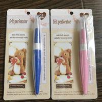 DONYAMY Pen Style Felting Aghi supporto della maniglia utensili con 3 aghi fai da te a mano Lana Pin Felt strumento tessuto filato di Applique Craft Knitt
