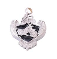 Joyería de moda collar de acero inoxidable puede abrir en forma de corazón motocicleta cremación joyería botella cenizas colgante collar de recuerdo