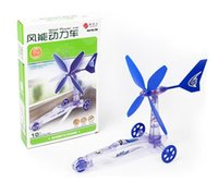 DIY wind power car toy Green Energy DIY Assembly Kit best Sc...
