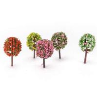 5 Adet / takım Yapay Pembe Ağaç Söğüt Mikro Peyzaj Dekorasyon Mini Bahçe Simülasyon Bitkiler Minyatür Bahçe Ev Dekorasyon