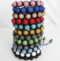 Cheap Best color Mixed Micro Pave CZ Disco10mm Ball Bead Hig...